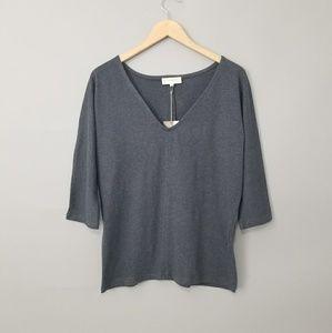 Synergy Organic Clothing Blue Sadie V-Neck Top S
